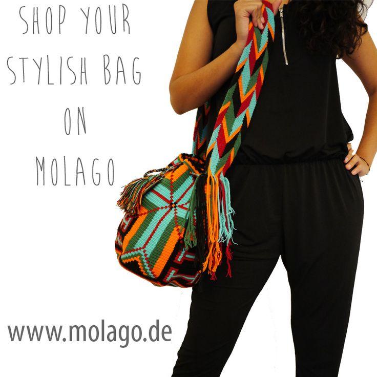 Suchst du noch dein ideales Outfit für die Sommertage? Auf Molago.de findest du kreative Handtaschen für den perfekten Sommerlook.  www.molago.de  #molago #wayuu #bags #taschen #sommerlook #summerlook #summeroutfits #summeroutfit #summer2015 #outfit2015 #mochila #mochilas #handmadebags