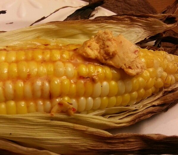 Chipolte butter on fresh grilled sweet corn