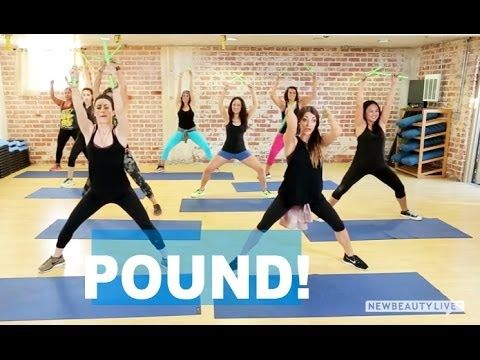 Fun Workout Trend: Pound | NewBeauty Body Demonstration of a few basic moves before they do a warm up song routine.