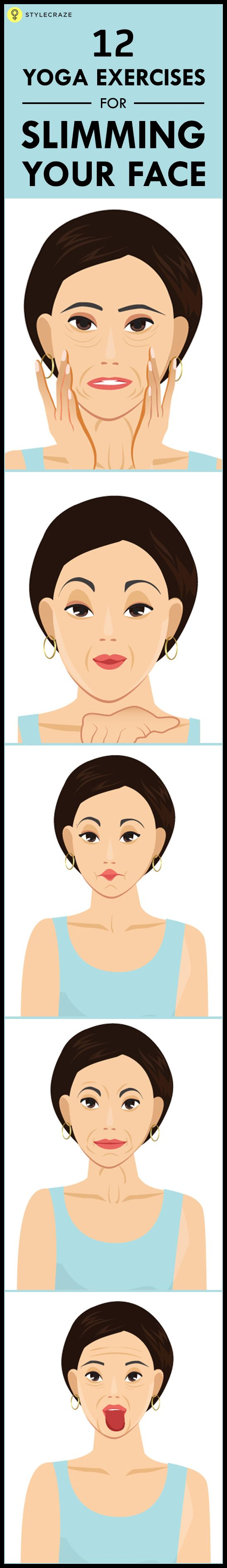 Most of us are so worried about the fat in our body that we forget to notice the fat in our face. Here are 12 effective exercises in yoga for slim face for you to look on