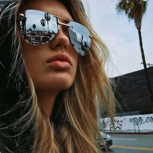 Gold Oceanic Oversize Aviator Sunglasses