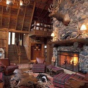 """From the cabin """"up north.""""  Cozy up to the fire and sit a'spell."""