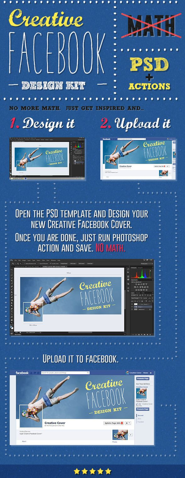 Creative Facebook Cover Creation Kit — Layered PSD #facebook #cover • Available here → https://graphicriver.net/item/creative-facebook-cover-creation-kit/5638026?ref=pxcr