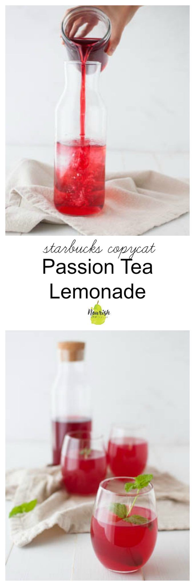 How to make your own Starbucks copycat passion tea lemonade | cool down this summer with this refreshing drink | DIY | at home | tazo via @nourishnutrico