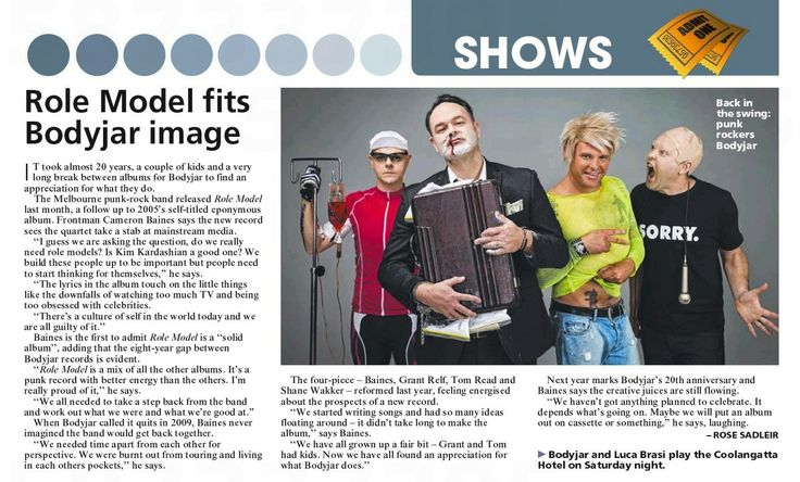 Bodyjar in Gold Coast Bulletin