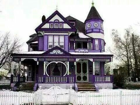 Victorian Home. Favorite color purple with black and white accent colors.