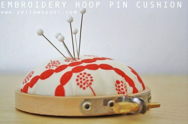 embroidery hoop pin cushion tutorial || by yellow spool for U Create