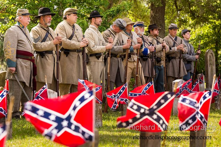 Civil War Flags | Civil War re-enactors stand at during Confederate Memorial Day events ...