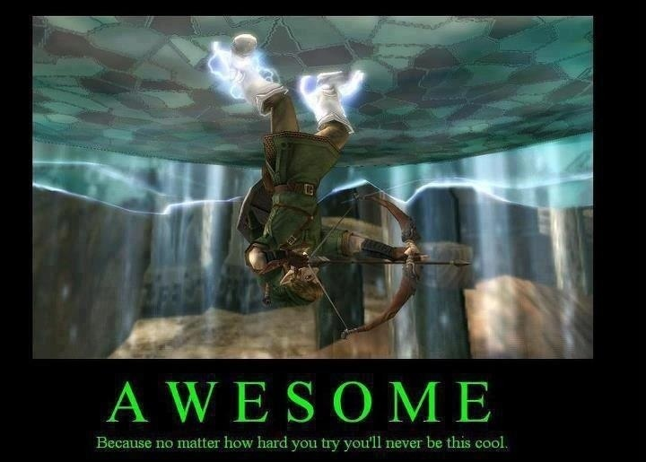 You'll never be cool enough to hang upside down on a magnetic ceiling wearing iron boots whilst shooting the hero's bow... Just saying.