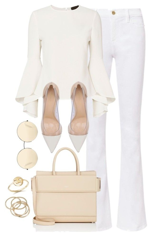 """""""Untitled #3769"""" by theaverageauburn ❤ liked on Polyvore featuring Frame, Exclusive for Intermix, Gianvito Rossi, Givenchy, Victoria Beckham, Bing Bang and ABS by Allen Schwartz"""