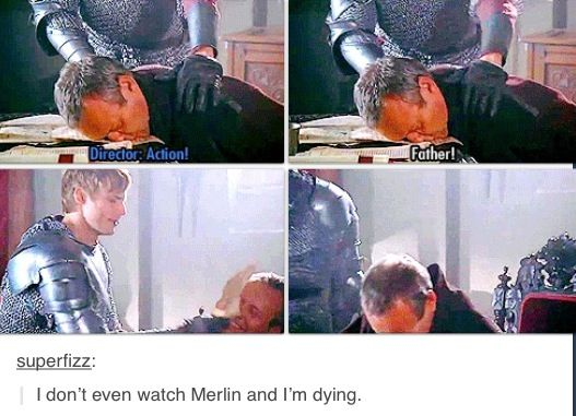 LOL!!! And also...um someone tell me why someone wouldnt watch merlin...
