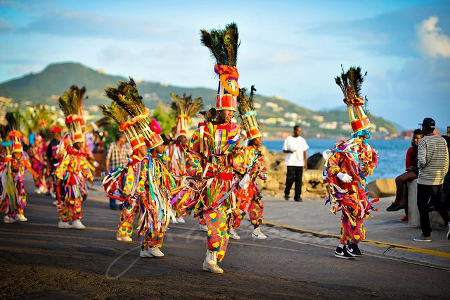 Carnival in St.Kitts is unique - it's the only one in the Caribbean that blends Christmas with the two island nation's culture and African heritage. Carnival begins officially on Christmas Eve and ends in January