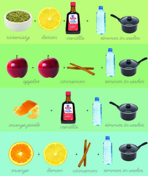 DIY: fantastic stovetop popurri recipes!