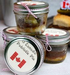 canada day pies in a mason jar
