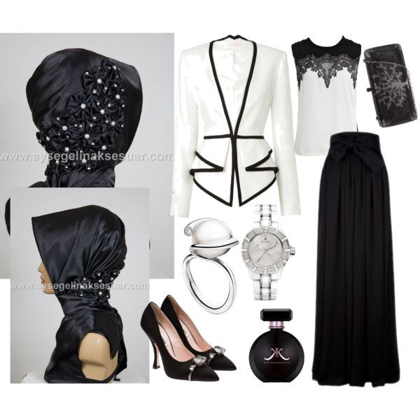 """""""ready to wear hijab"""" by hazirturban on Polyvore. Not so much the hijab but the outfit."""