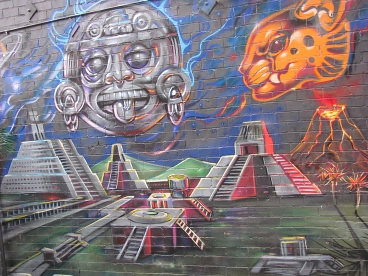 30 best images about aztec mayan graffiti on pinterest for Aztec mural painting