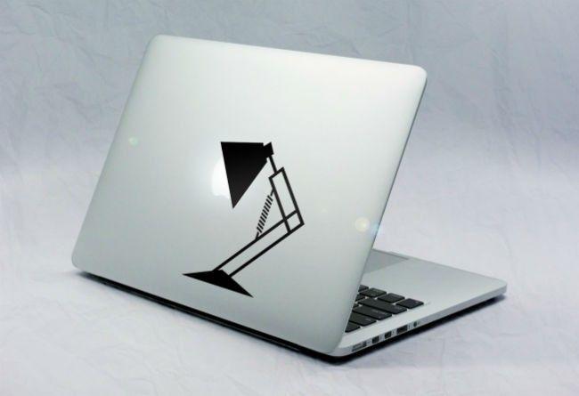 Sticker Macbook Lampe