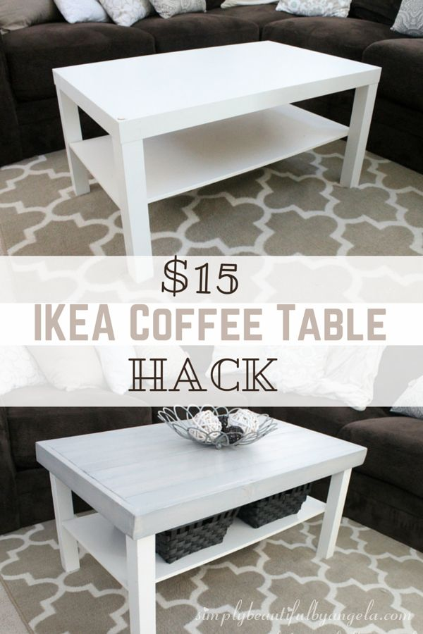 Simply Beautiful By Angela: IKEA Lack Coffee Table Hack Part 70
