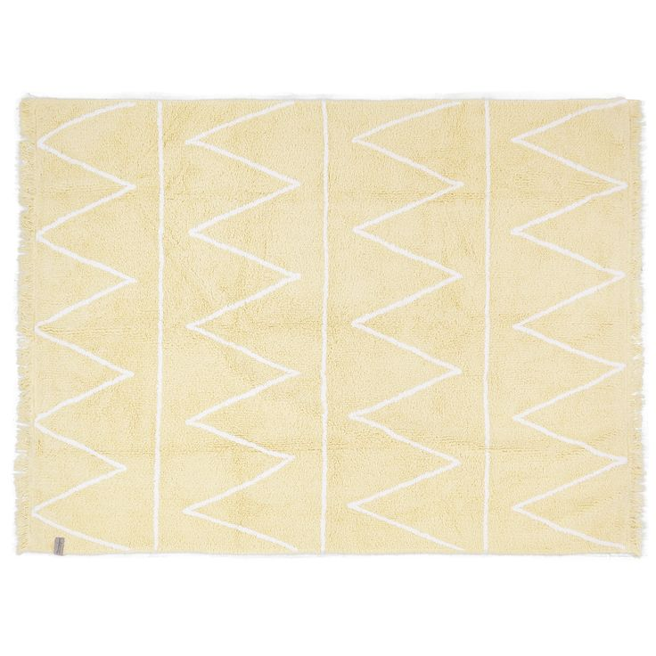 Washable rug Hippy Blue /Alfombra lavable Hippy Yellow #washablerugs #lorenacanals #hippycollection