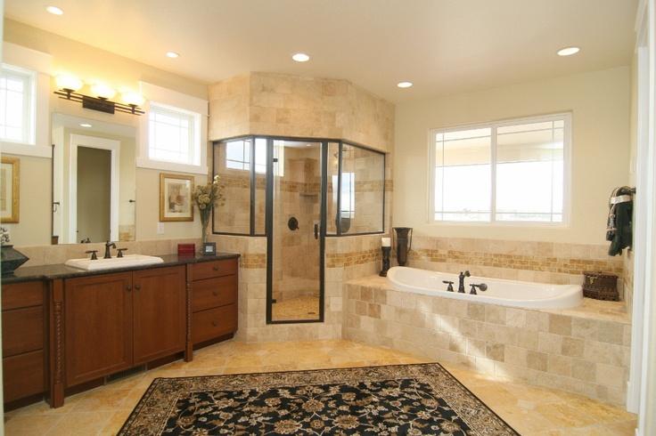 Master Bathroom In A Craftsman 3585 Custom Home By G J
