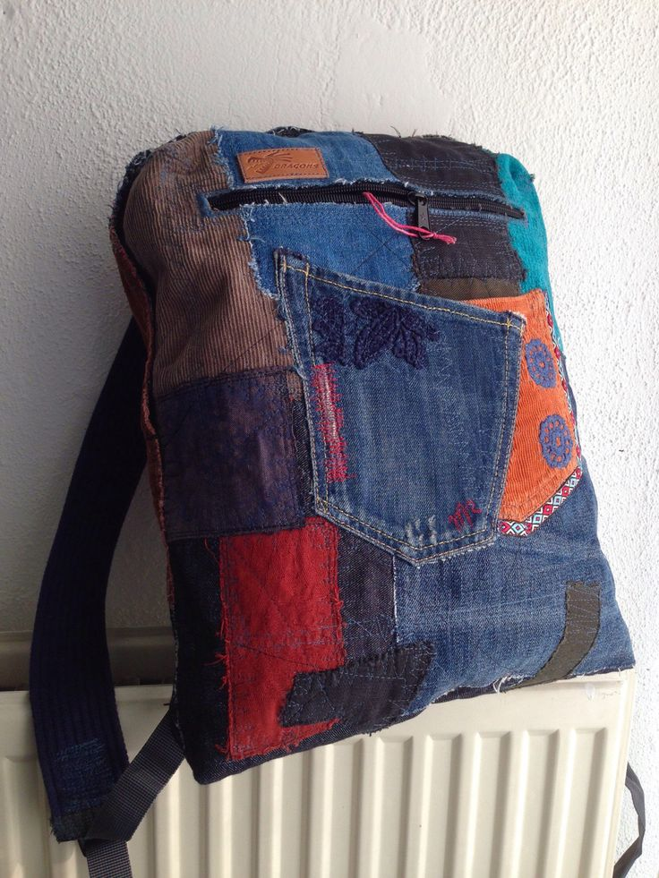 Luxemburg patchwork backpack, upcycled denim backpack, soft cotton straps, zipper closing, 3 pockets. by HelenBudniatsky on Etsy https://www.etsy.com/listing/494991589/luxemburg-patchwork-backpack-upcycled