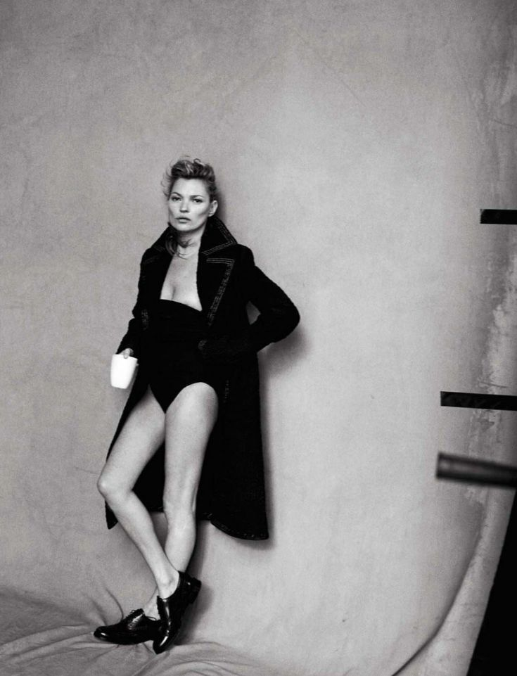 Kate Moss By Peter Lindbergh For Vogue Italy January 2015