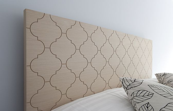 Alhambra- bed headrest by crafters, Stgo/Chile.