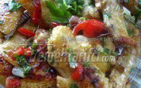 Sebzeli Salçalı Tavuk Kanadı