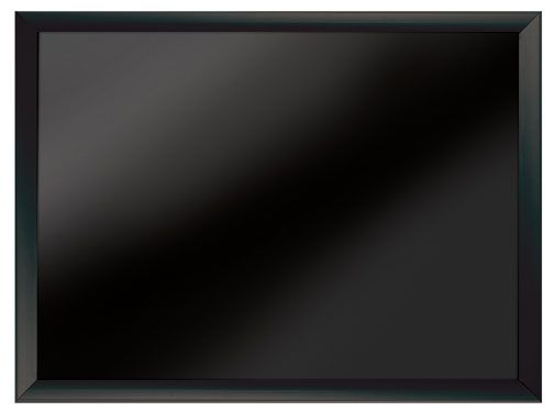Black Framed Magnetic  Black Surfaced Wet Erase Board 18x24