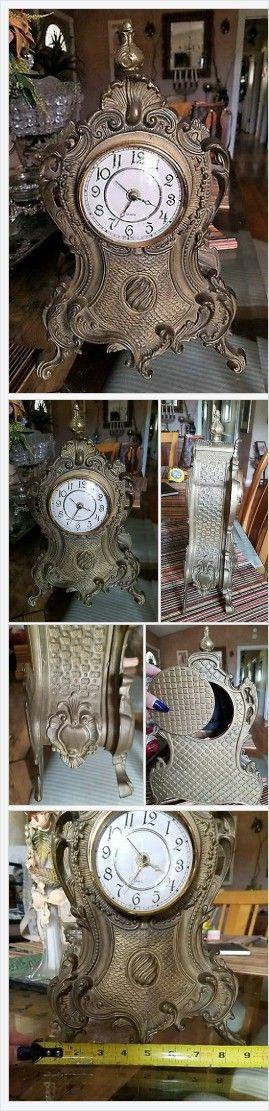 "Mantel Clock (1970s Now) Vintage Solid Brass Made In Germany Quartz 14"" http://www.ebay.com/itm/232306212519?ssPageName=STRK:MESELX:IT&_trksid=p3984.m1555.l2649"