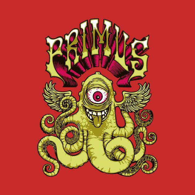 PRIMUS - OCTOFUN T-Shirt PRIMUS - OCTOFUN 2392203 0 2392203 0  Primus Octofun T-Shirt Design by cowfishdiva  PRIMUS, Band, Music, Octo, Octopus, Underwater, Artist, Musician