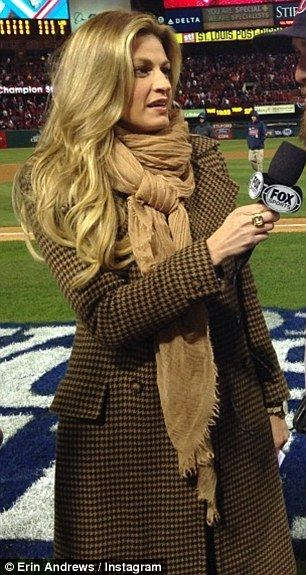 Erin Andrews during the World Series--Kate inspiration