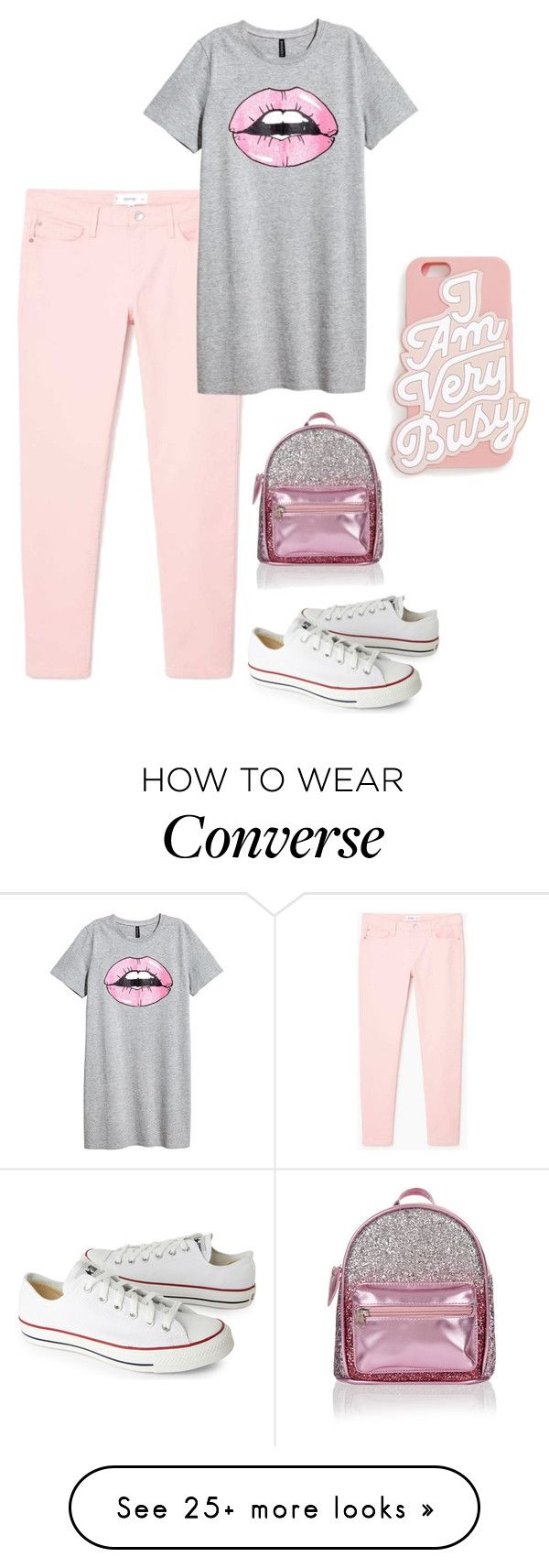 """""""i am very busy"""" by rebekahp1994 on Polyvore featuring MANGO, ban.do, Converse and Accessorize"""