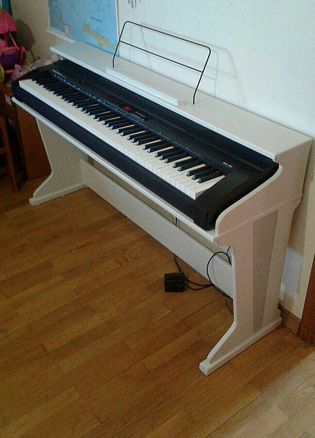 Piano style keyboard stand. | Keys | Piano room, Piano ...