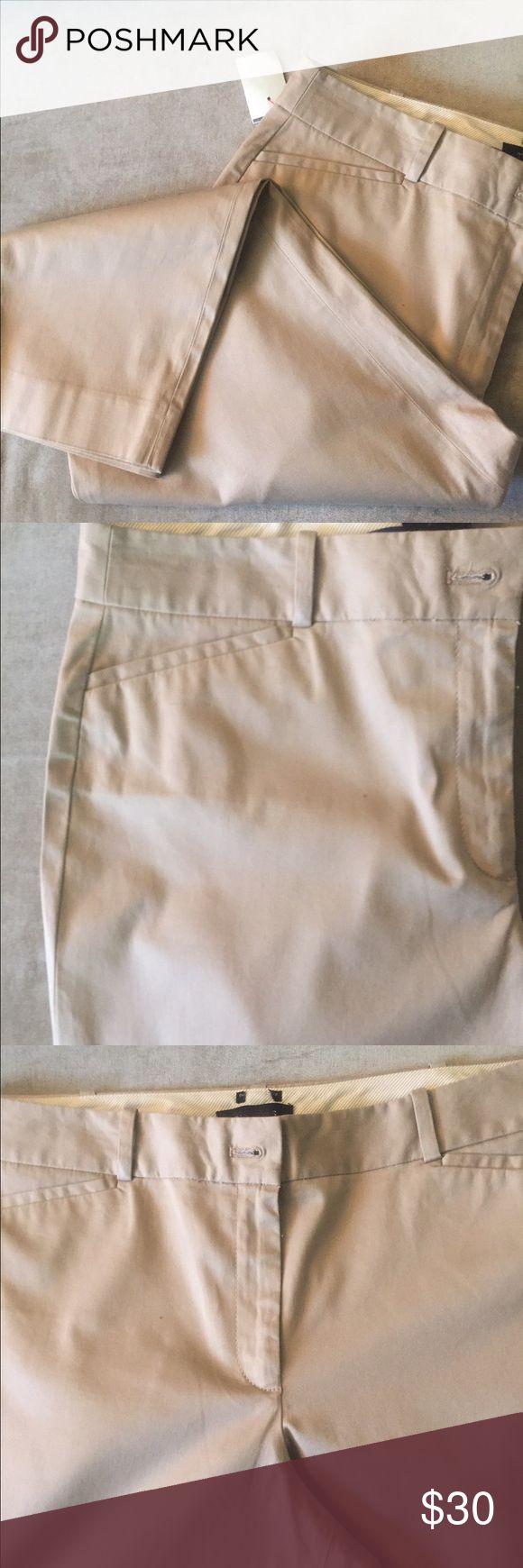 "Talbots Khaki Capris New with tag and never worn. Waist 18"" inseam 22"" Talbots Pants Capris"