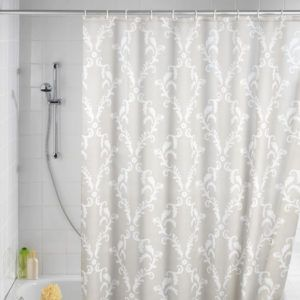 Solid Color Coral Shower Curtain