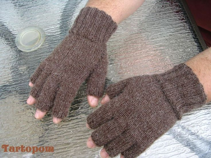 modele tricot mitaine homme