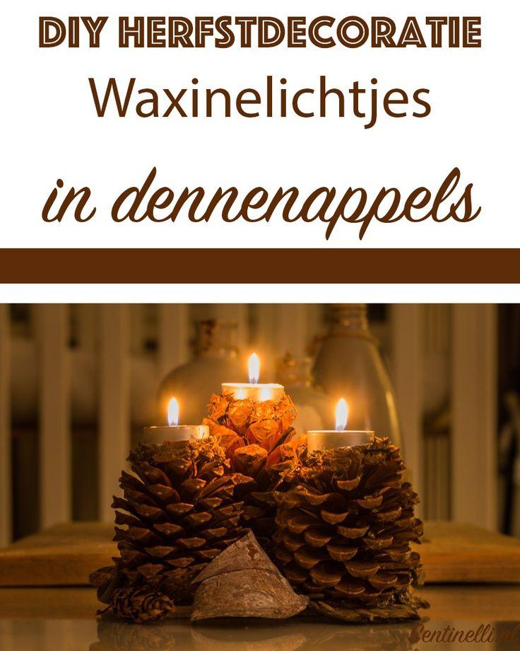 DIY herfstdecoratie - Waxinelichtjes in dennenappels. In dit artikel heb ik een nieuwe DIY herfstdecoratie voor jullie, namelijk waxinelichtjes in dennenappels.