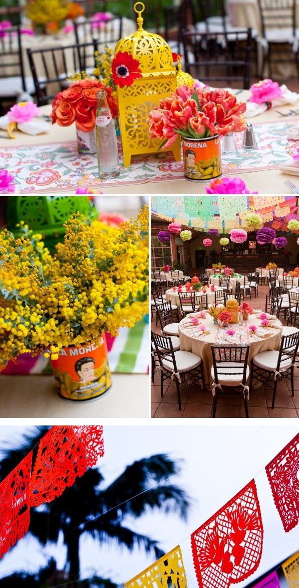 Tablescape for Spanish Party or Cinco De Mayo (ZGallerie for the Lanterns)                                                                                                                                                                                 More