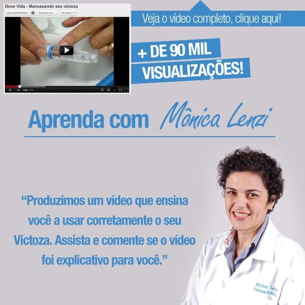 Você possui dúvidas sobre como manusear a caneta do Victoza?  Aprenda com a Farmacêutica e Educadora em Diabetes Mônica Lenzi no vídeo: http://www.youtube.com/watch?v=7Y7S2ifGxaw