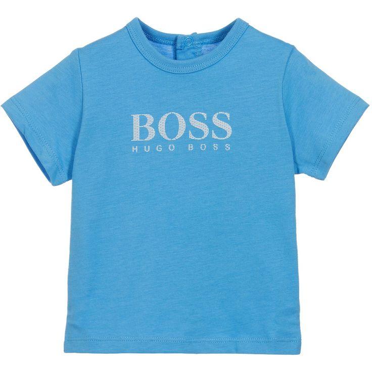 BOSS Baby Boys Blue Jersey T-Shirt