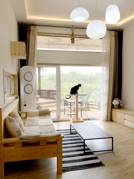 거실 인테리어 디자인 & 아이디어  아티스트, 인테리어 및 디자인