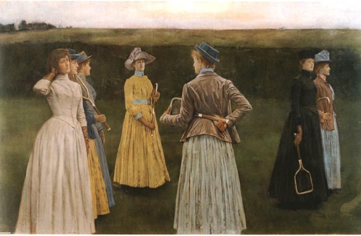Memories (Lawn Tennis) by Fernand Khnopff (1858-1921)