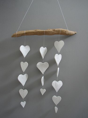 DIY: clay heart mobile | Flickr - Photo Sharing!
