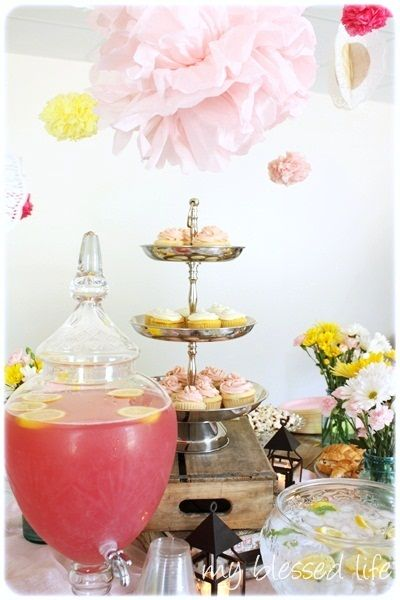 Pink Lemonade Baby Girl Shower #baby #shower
