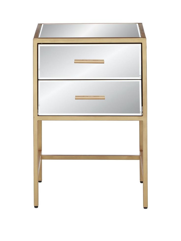 Gold Ready Assembled 2 Drawer Mirror and Metal Bedside Chest, http://www.very.co.uk/gold-ready-assembled-2-drawer-mirror-and-metal-bedside-chest/1600173381.prd