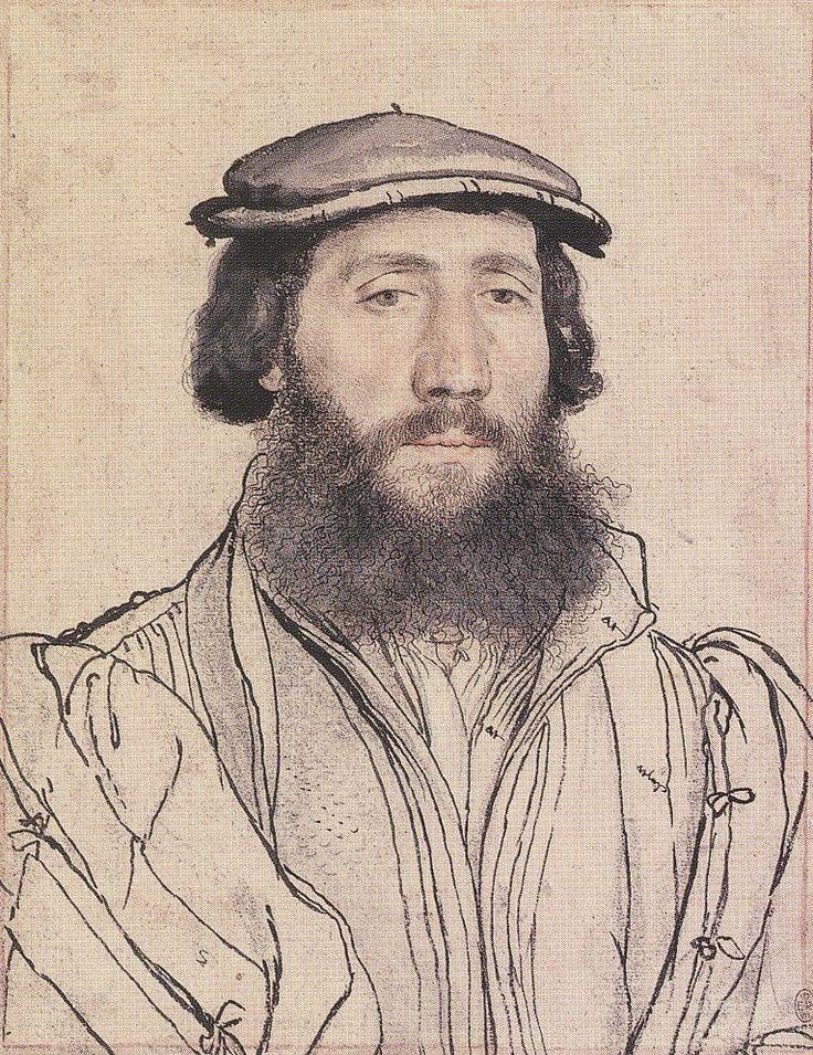 Ганс Гольбейн младший (1497-1543), Portrait of an Unidentified Man with a Beard. c.1535