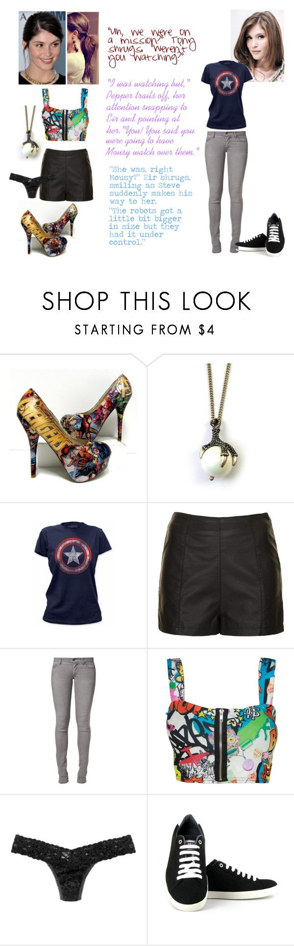 """""""A Second Chance- Chapter Twenty-Three"""" by crossxover ❤ liked on Polyvore featuring Topshop, Cheap Monday, Hanky Panky, Vegetarian Shoes, harrypotter, Avengers, fanfiction, theavengers and crossover"""