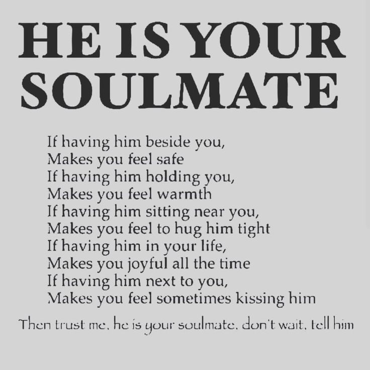 How to know if a guy is your soulmate