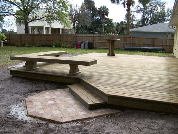 Wood deck and porch installion in Fort Myers
